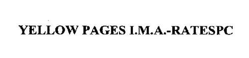 YELLOW PAGES I.M.A.-RATESPC