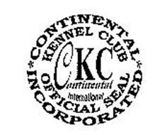 CKC CONTINENTAL INTERNATIONAL KENNEL CLUB OFFICIAL SEAL CONTINENTAL INCORPORATED