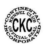 CKC CONTINENTAL KENNEL CLUB INCORPORATED OFFICIAL SEAL