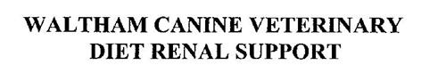 WALTHAM CANINE VETERINARY DIET RENAL SUPPORT