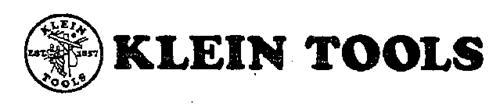 KLEIN TOOLS KLEIN TOOLS EST 1857