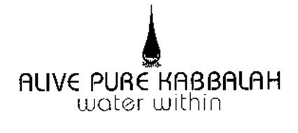 ALIVE PURE KABBALAH WATER WITHIN