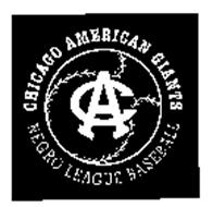 CA CHICAGO AMERICAN GIANTS NEGRO LEAGUE BASEBALL