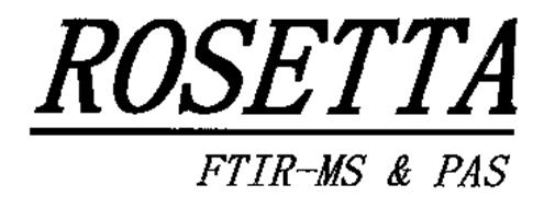 ROSETTA FTIR-MS & PAS