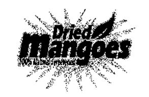 DRIED MANGOES 100% NATURAL SWEETENED