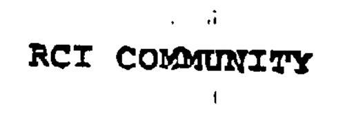 RCI COMMUNITY