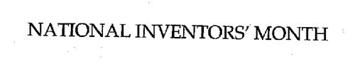 NATIONAL INVENTORS' MONTH