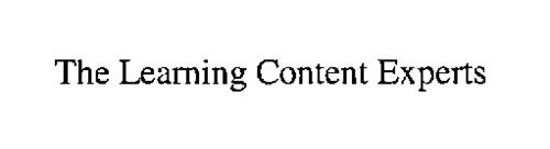THE LEARNING CONTENT EXPERTS