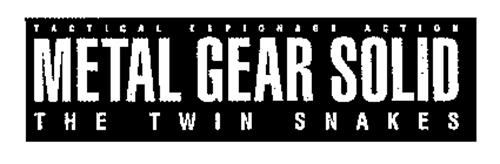 TACTICAL ESPIONAGE ACTION METAL GEAR SOLID THE TWIN SNAKES