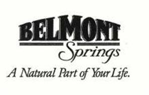 BELMONT SPRINGS A NATURAL PART OF YOUR LIFE.