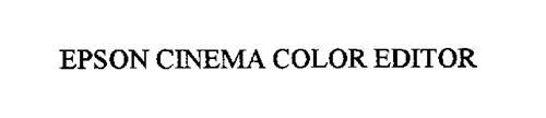 EPSON CINEMA COLOR EDITOR