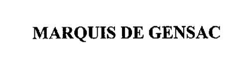 MARQUIS DE GENSAC