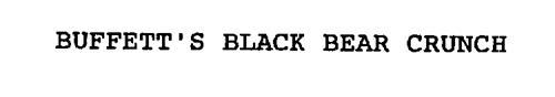 BUFFETT'S BLACK BEAR CRUNCH