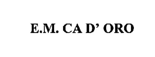 E.M. CA D' ORO