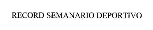 RECORD SEMANARIO DEPORTIVO