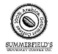 SUMMERFIELD'S GOURMET COFFEE CO. 100% ARABICA, GOURMET COFFEES