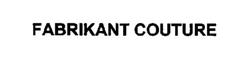 FABRIKANT COUTURE