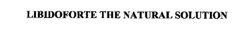 LIBIDOFORTE THE NATURAL SOLUTION