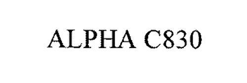 ALPHA C830