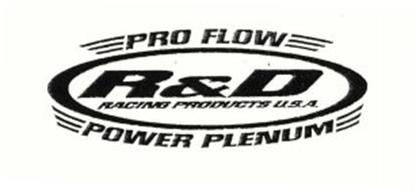 PRO FLOW R&D RACING PRODUCTS U.S.A. POWER PLENUM