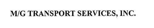 M/G TRANSPORT SERVICES, INC.
