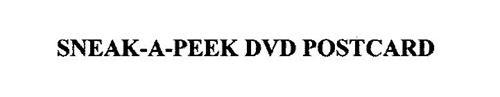 SNEAK-A-PEEK DVD POSTCARD