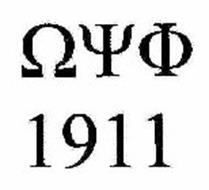[OMEGA-SYMBOL][PSI-SYMBOL][PHI-SYMBOL] 1911