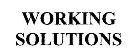 WORKING SOLUTIONS
