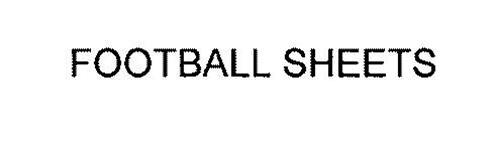 FOOTBALL SHEETS