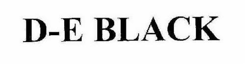 D-E BLACK