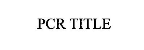PCR TITLE