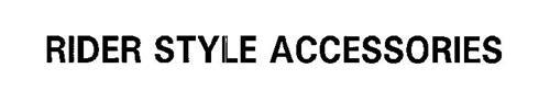 RIDER STYLE ACCESSORIES