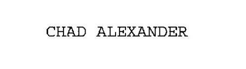 CHAD ALEXANDER