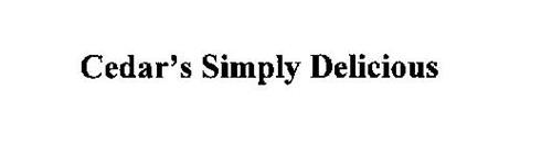 CEDAR'S SIMPLY DELICIOUS