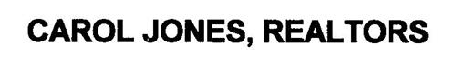 CAROL JONES, REALTORS