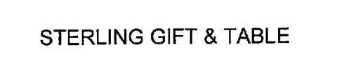 STERLING GIFT & TABLE