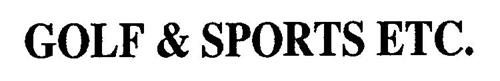 GOLF & SPORTS ETC.