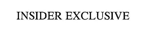 INSIDER EXCLUSIVE