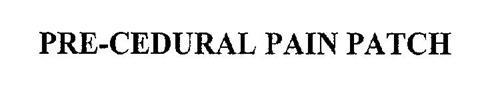 PRE-CEDURAL PAIN PATCH