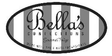 BELLA'S CONFECTIONS GOURMET FUDGE MADE WITH THE FINEST INGREDIENTS