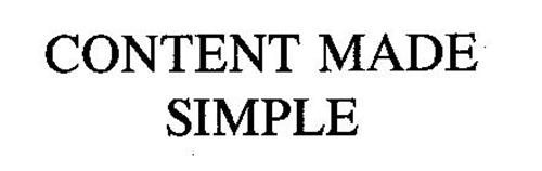 CONTENT MADE SIMPLE