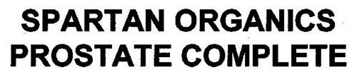 SPARTAN ORGANICS PROSTATE COMPLETE