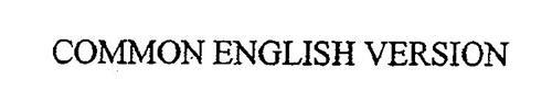 COMMON ENGLISH VERSION