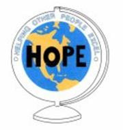 HOPE · HELPING OTHER PEOPLE EXCEL ·