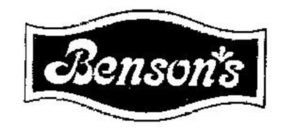 Benson S Inc Trademarks 20 From Trademarkia Page 1