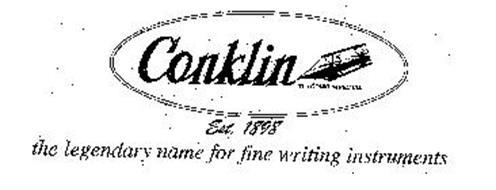 CONKLIN THE CONKLIN PEN CO. EST. 1898 THE LEGENDARY NAME FOR FINE WRITING INSTRUMENTS