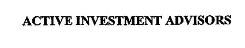ACTIVE INVESTMENT ADVISORS