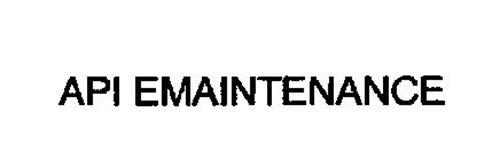 API EMAINTENANCE