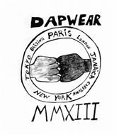 DAPWEAR TOKYO BEIJING PARIS LONDON JAMAICA CAPETOWN NEW YORK MMXIII
