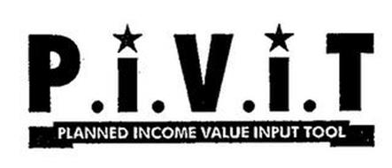 P.I.V.I.T PLANNED INCOME VALUE INPUT TOOL